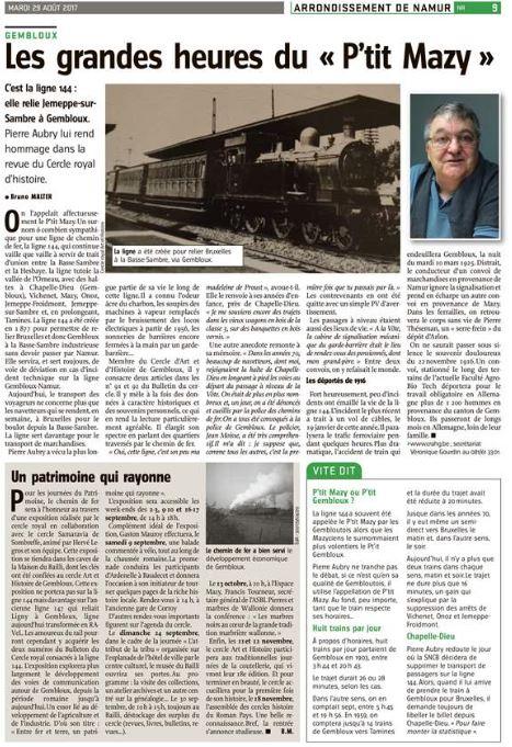 2017 08 29 L'Avenir - Bulletins 91 et 92